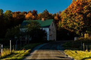 Winding Dirt Road near Craftsbury Common, Vermont